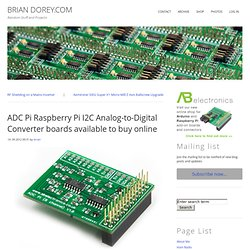 ADC Pi Raspberry Pi I2C Analog-to-Digital Converter boards available to buy online