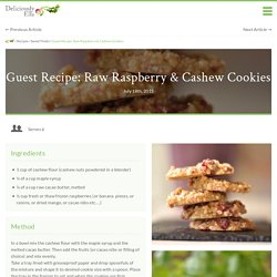 Guest Recipe: Raw Raspberry & Cashew Cookies