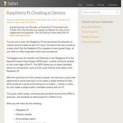 Raspberry Pi: Creating a Camera - Safari Blog