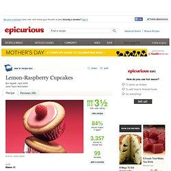Lemon-Raspberry Cupcakes Recipe at Epicurious