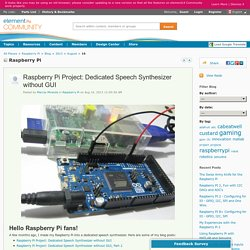 Raspberry Pi Project: Dedicated S...