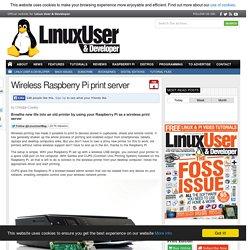 Wireless Raspberry Pi print server