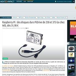 Raspberry Pi:des disques durs PiDrive de 250 et 375 Go chez WD, dès 31,90 €