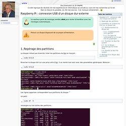 Raspberry Pi : connexion d'un disque dur externe USB - Documentation perso de Nicolas Frappé