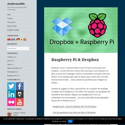 Raspberry Pi & Dropbox