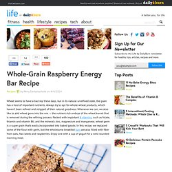 Whole-Grain Raspberry Energy Bar Recipe