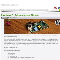 Raspberry Pi : Faire un serveur Mumble - Micro-add