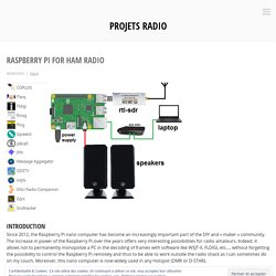 Raspberry Pi for HAM Radio – Projets radio