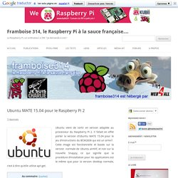 Ubuntu MATE 15.04 pour le Raspberry Pi 2