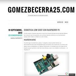 Domotica Low Cost con Raspberry PI