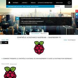 Contrôle a distance Raspberry Pi