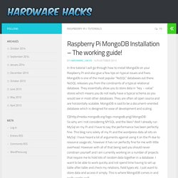 Raspberry Pi MongoDB Installation – The working guide! - Hardware_Hacks