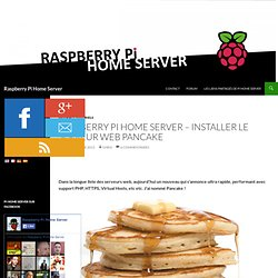 Installer le serveur web Pancake