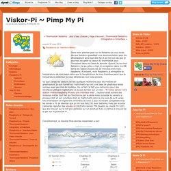 Raspberry-pi : Interface Météo : Viskor-Pi ~ Pimp My Pi