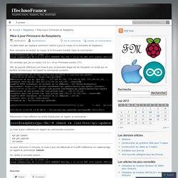 Mise à jour Firmware du Raspberry