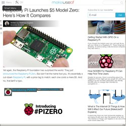 Raspberry Pi Launches $5 Model Zero: Here's How It Compares