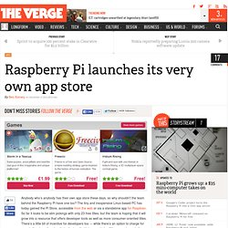 Raspberry Pi launches its very own app store