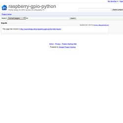Inputs - raspberry-gpio-python - How to use inputs in RPi.GPIO - Python library for GPIO access on a Raspberry Pi