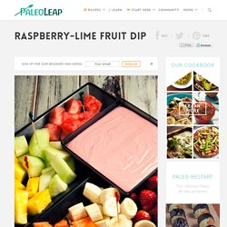 Raspberry-Lime Fruit Dip