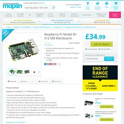 Raspberry Pi Model B+ 512 MB Mainboard