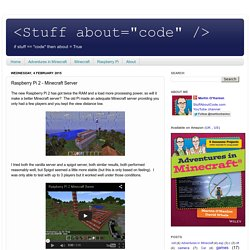 Raspberry Pi 2 - Minecraft Server