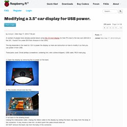 "View topic - Modifying a 3.5"" car display for USB power."