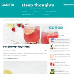 Raspberry Moji-rita - Steep Thoughts