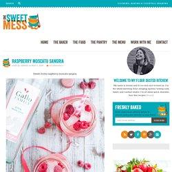 Raspberry Moscato Sangria - One Sweet Mess