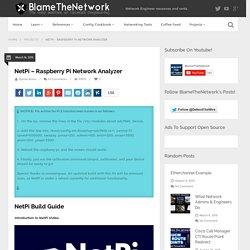 NetPi - Raspberry Pi Network Analyzer - Blame The Network