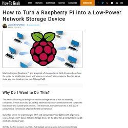 How to Turn a Raspberry Pi into a Low-Power Network Storage Device