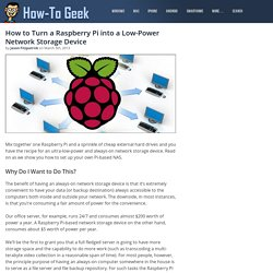 How to Turn a Raspberry Pi into a Low-Power Network Storage Device