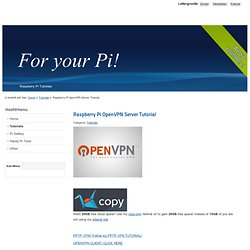 Raspberry Pi OpenVPN Server Tutorial