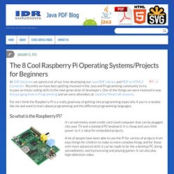 The 8 Cool Raspberry Pi Operating Systems/Projects for Beginners