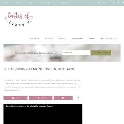 Raspberry Almond Overnight Oats with Almonds {Easy Breakfast Recipe}