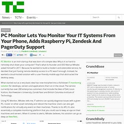 PC Monitor Lets You Monitor Your IT Systems From Your Phone, Adds Raspberry Pi, Zendesk And PagerDuty Support