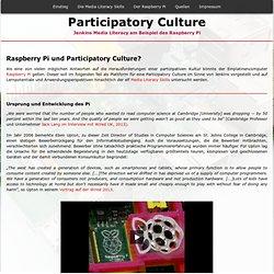Raspberry Pi und Participatory Culture