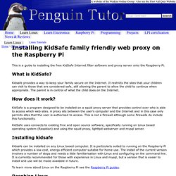 Install KidSafe family proxy on the Raspberry Pi - Linux tutorial from PenguinTutor