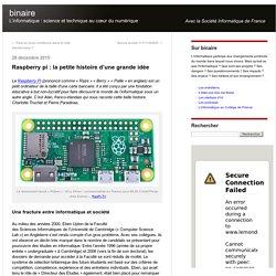 Raspberry pi : la petite histoire d'une grande idée