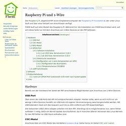 Raspberry Pi und 1-Wire – FHEMWiki