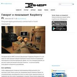 Говорит и показывает Raspberry Pi