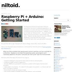 Raspberry Pi + Arduino - niltoid.niltoid.