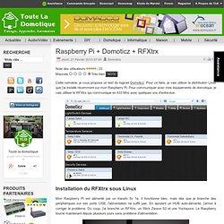 Raspberry Pi + Domoticz + RFXtrx