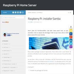 Raspberry Pi : installer Samba