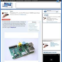 Raspberry PI, un mini PC Linux / XBMC pour tous