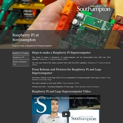 Raspberry Pi at Southampton
