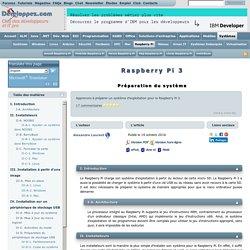Raspberry Pi 3 - Préparation du système