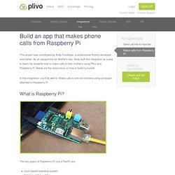 let Raspberry Pi make phone calls
