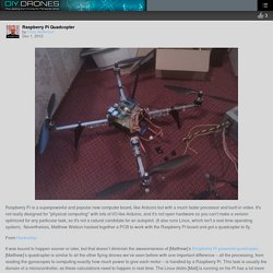 Raspberry Pi Quadcopter – DIY Drones