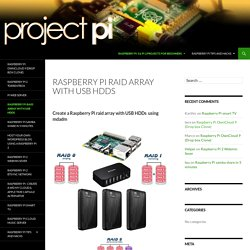 Raspberry Pi raid array with USB HDDs