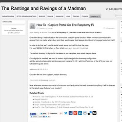Raspberry Pi » The Rantings and Ravings of a Madman